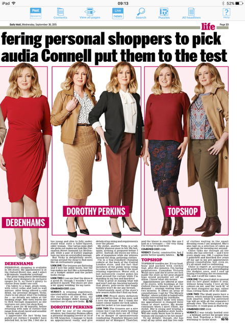 Claudia Connell Daily Mail