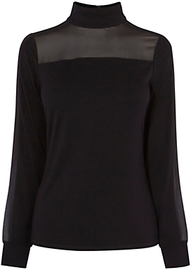 karen-millen-turtle-neck-blouse-black