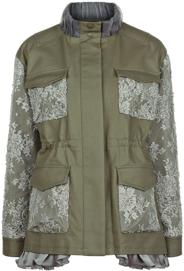 leur-logette-khaki-lace-patch-military-jacket